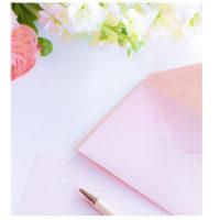 オリジナルの封筒&便箋の制作