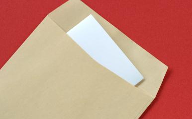 長3封筒の縦向き画像
